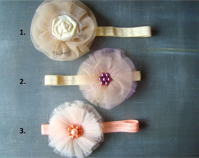 Baby girl Satin Flower Headband Flower Headband Hair Accessories Baby Headband Infant Accessories Headband for Babies Vintage Headband Prop