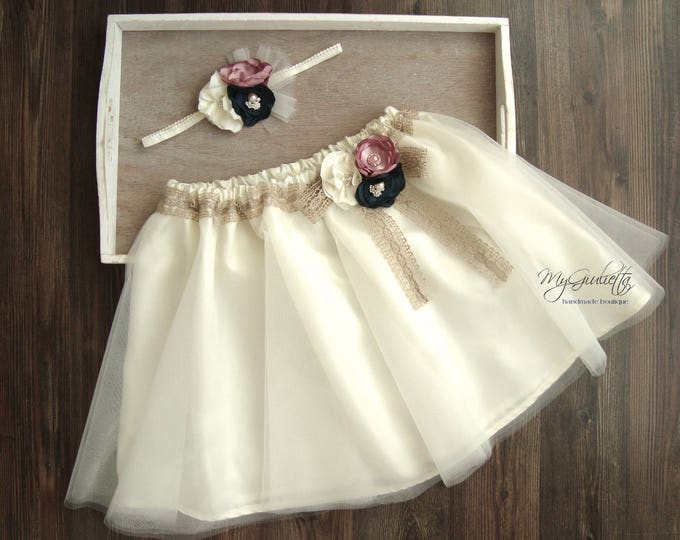 Wedding Tulle Skirt, Baby Tutu, Adult Tutu, 3 Layers Sewn, Knee Skirt, Silk Satin Lining, Bridal Skirt, Ivory Tutu Skirt, Champagne Tutu