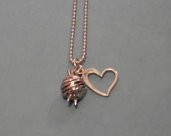 A Knitter's Love Silvertone Charm Necklace