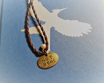 Real/ Not Real Katniss Necklace (Inspired by the Hunger Games Trilogy)