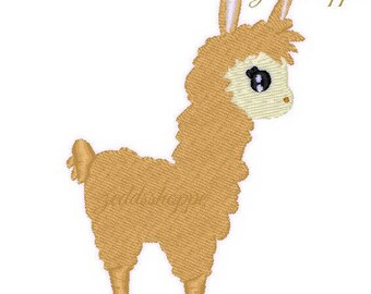 Llama Mini Embroidery Design - Llama Embroidery - 4x4 - Instant Download