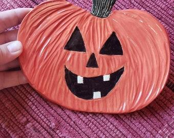 Pumpkin plate for Autumn and Halloween
