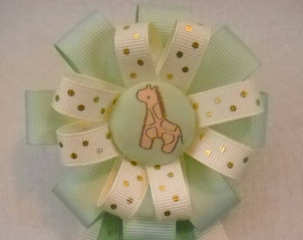 Giraffe Baby Shower Corsage