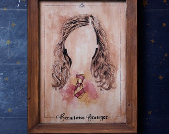 Hermione Granger from Harry Potter illustration limited edition watercolor copy