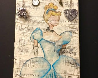 Cinderella Recycled Material Painting