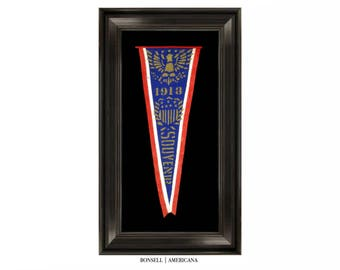 Antique Souvenir Pennant | Used at the Inauguration of Woodrow Wilson | Circa 1913