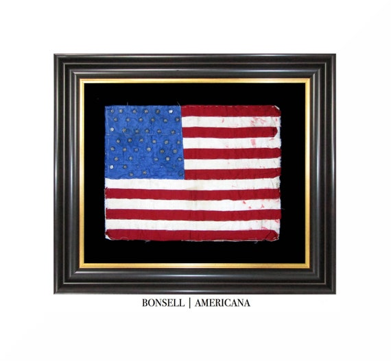 198d3fef34f6 48 Star Antique Homemade Flag Made by Nina Williams of