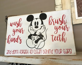 Mickey Mouse Bathroom Sign