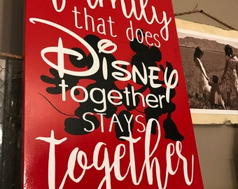 Disney Family Disney Together Stays Together