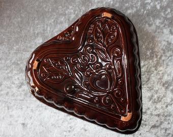 Vintage Grandmother's Heart Ceramic Baked