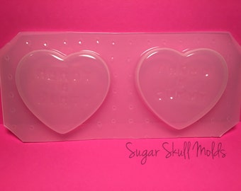 2pc Nerdy Dirty Inked and Curvy Candy Heart Plastic Mold For Resin