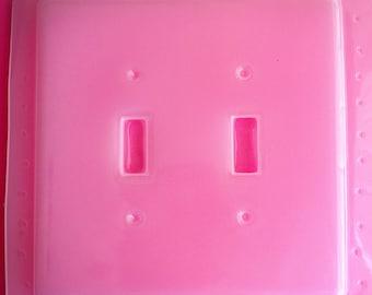Beveled Double Light Switch Plate Cover Flexible Plastic Resin Mold For Resin