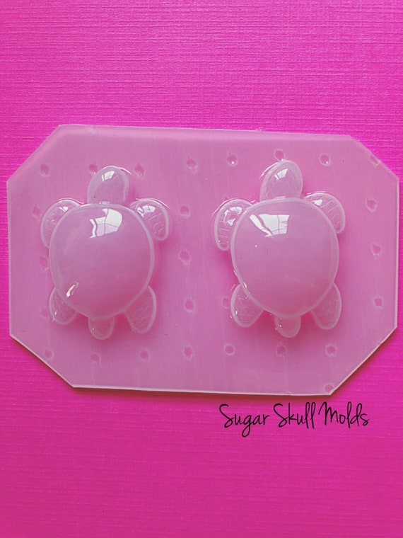 2pcs Small Kawaii Sea Turtle Flexible Plastic Mold For Resin Crafts Statement Jewelry