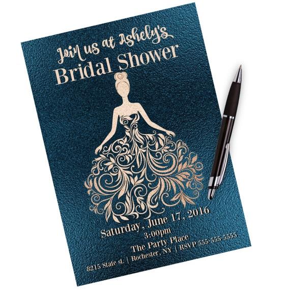 Bridal Shower Little Black Dress Bridal Shower Invitation Etsy
