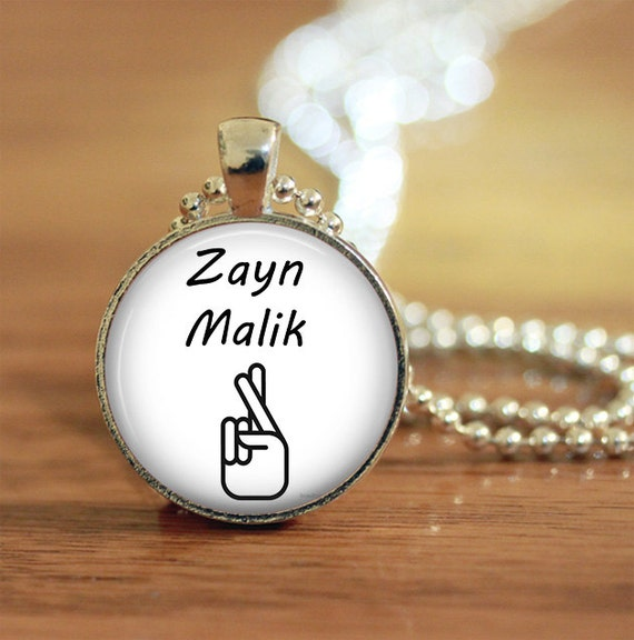 Zayn Malik Crossed Fingers Tattoo Pendant Keychain Necklace Etsy