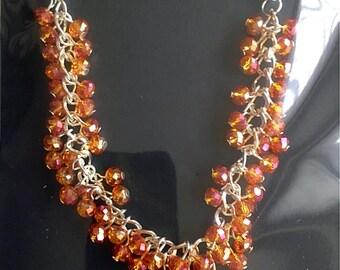 Multifacited beaded crystal bracelet