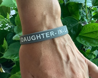 Holly Road Custom Brain Cancer Awareness Black Leather Unisex Bracelet Jewelry Choose MOM or DAD ONLY