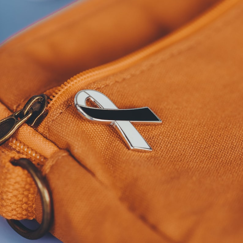 BPD awareness ribbon enamel pin V2 metal health awareness borderline personality disorder soft enamel