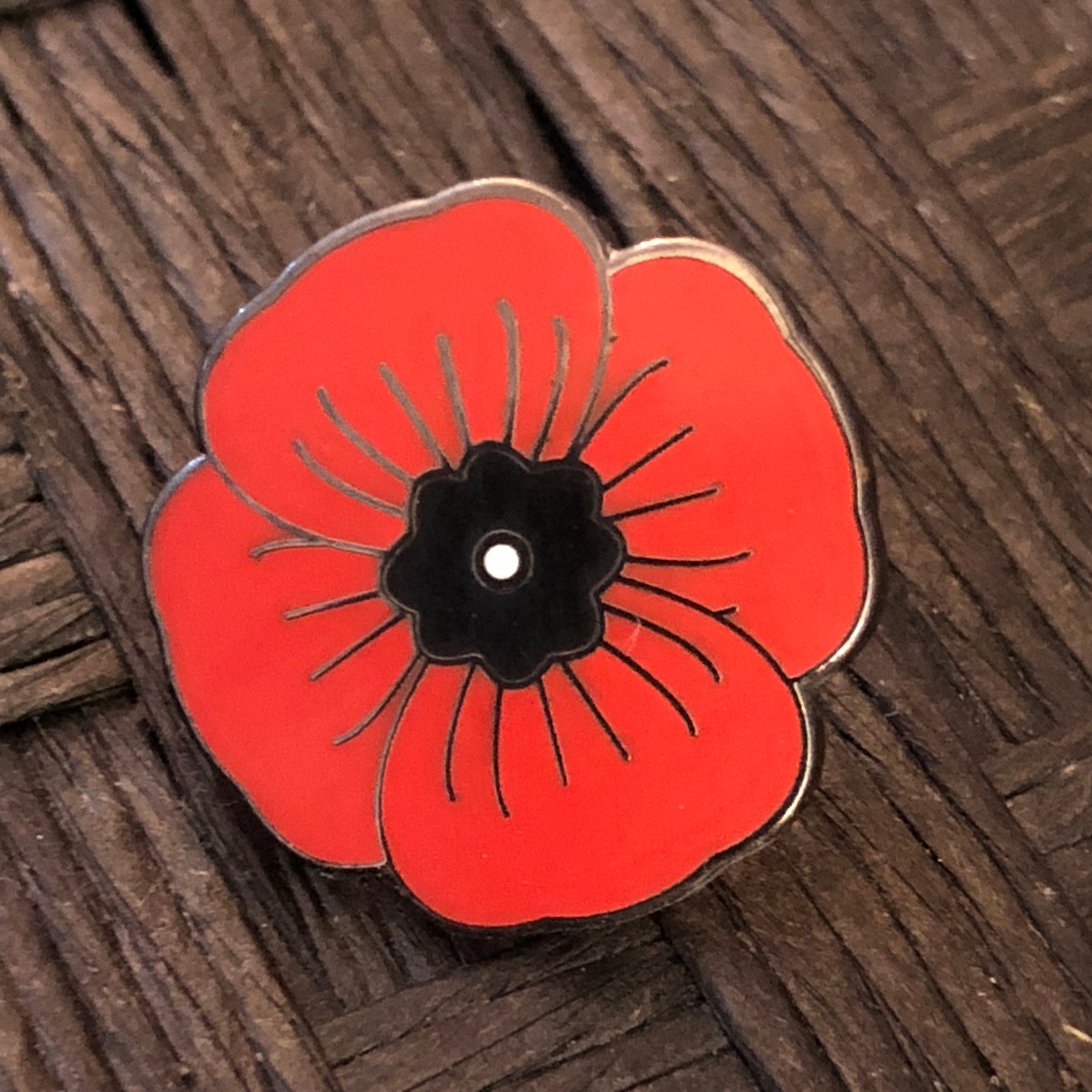 Memorial Poppy enamel lapel pin, hat pin, WWI, WWII, World War, military  pins, honor pins, enamel pin, poppy badge, Remembrance Day