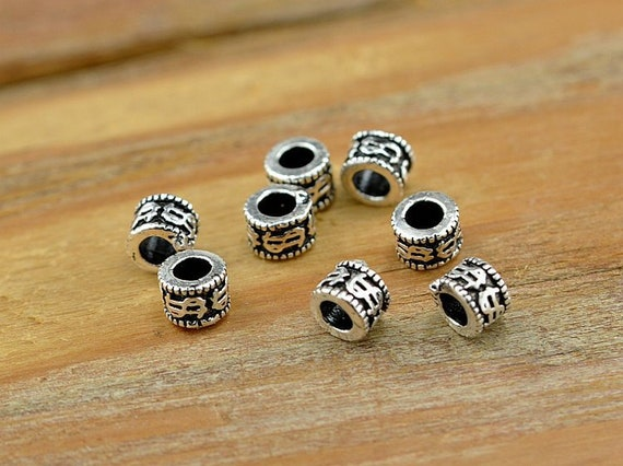 10 Pcs Antique Silver Flower Spacer Beads 15mm 93