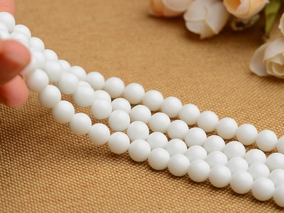 Round Natural Mother-of-pearl Tridacna Beads Tridacna Stone Beads 4 6 8 10 12 14 16 18 20mm White Sea Shell Beads Giant Clam Shell Beads