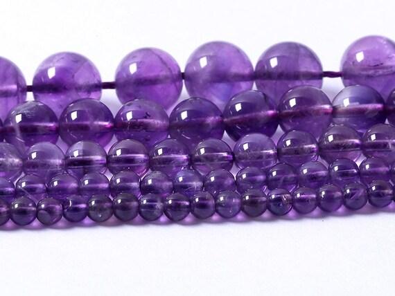 1 filamento de 8mm índigo natural Amatista 24 granos redondos