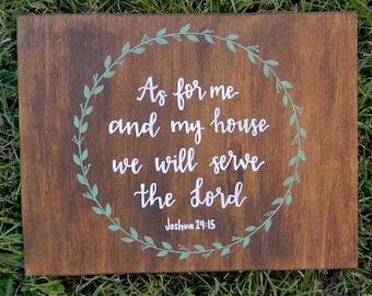Joshua 24:15 Wood Sign