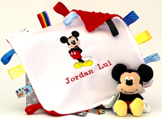 PERSONALISED PAW PRINT DOG,PUPPY TAGGY COMFORTER//TOY//GIFT,10 COLOURS AVAIL