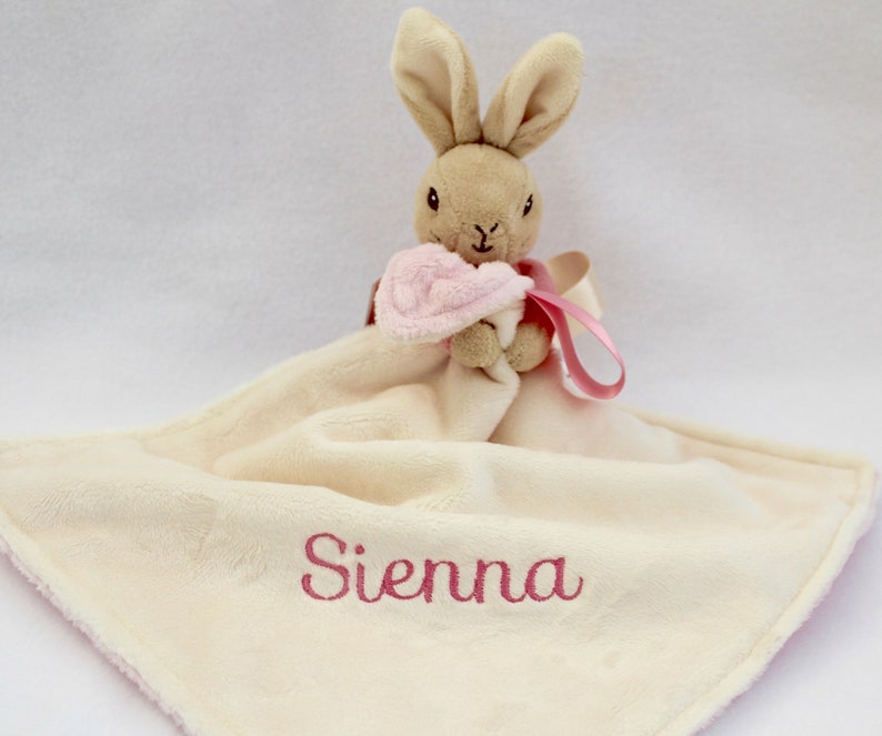 Personalised dog and baby blanket perfect gift for newborn  christening birthday  etc large teddy beautifully embroidered gift