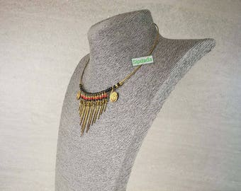 Necklace, African necklace, Beaded necklace, Handmade necklace, Statement necklace, Gift for her, Free Shipping