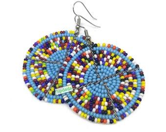 African jewelry, African earrings, Maasai earrings, earrings, Bead earrings, statement earrings, gift for her, Jewelry, Jewellery (005)