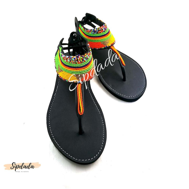 164861e0e605c Leather sandals African sandals Maasai sandals Summer