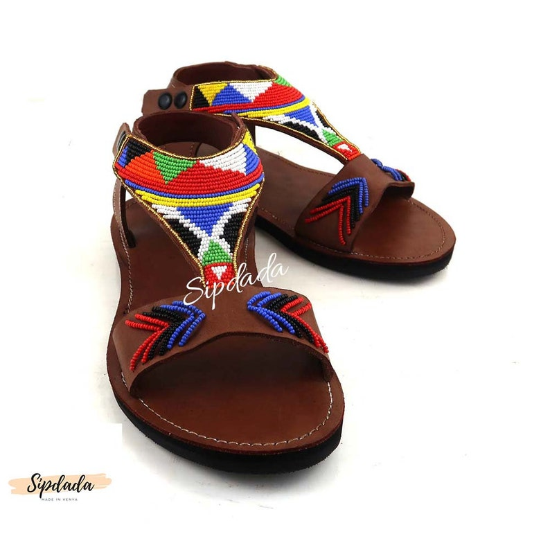 f2b3b4478c472 Beautiful handmade Leather sandals Maasai sandals Handmade