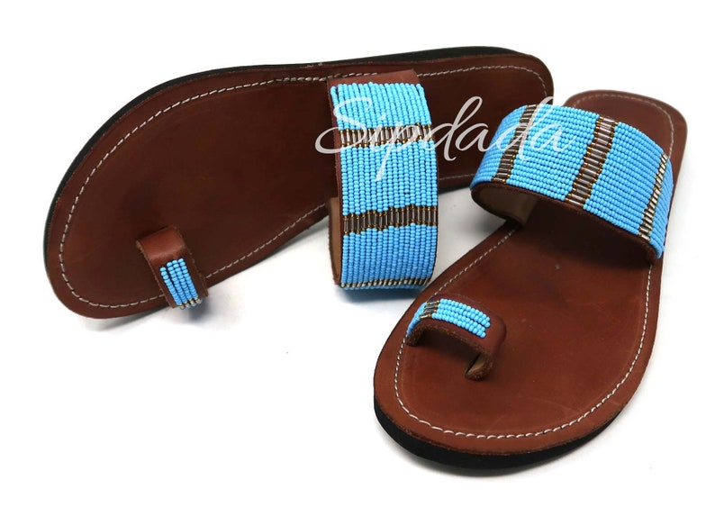 6ab3f7b14b0e5 Maasai sandals Leather sandals African sandals