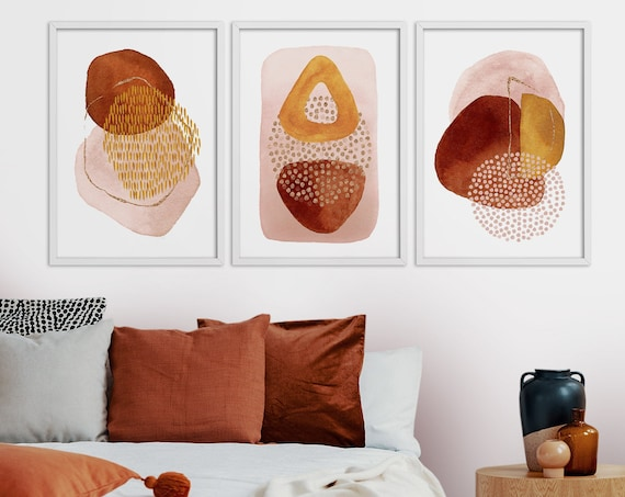 Abstract Wall Art Print Set of 3 - Digital Download