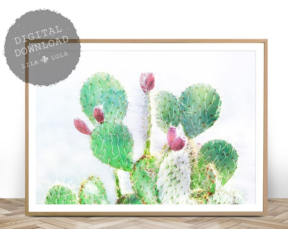 Boho Nursery Decor, Cactus Print, Bohemian Wall Art, Instant Digital Download, Large Printable Poster, Cactus Art Print, Southwestern Decor