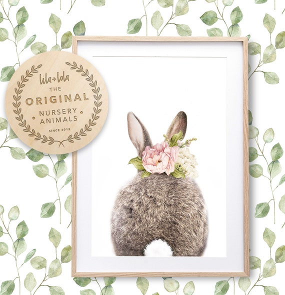 Floral Bunny Tail Print - Digital Download