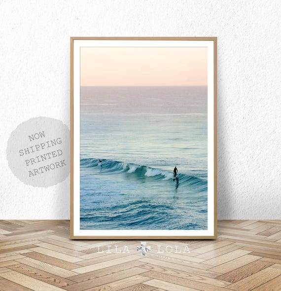 Surf Photography, Beach Wall Art Print, Ocean Water Surfing, Coastal Decor, Printed Artwork, Colour Photography