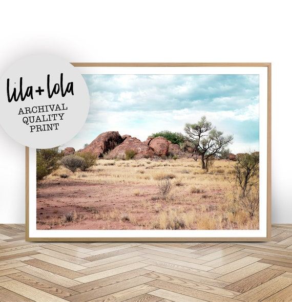 Desert Landscape Photography, Australian Outback Photo, Boho Style Wall Art Decor, Large Poster