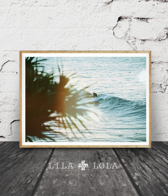 Surf Photography, Ocean Water Wall Art Print, Surfboard Decor, Coastal Beach, Large Printable Poster, Digital Download, Surfing, Waves