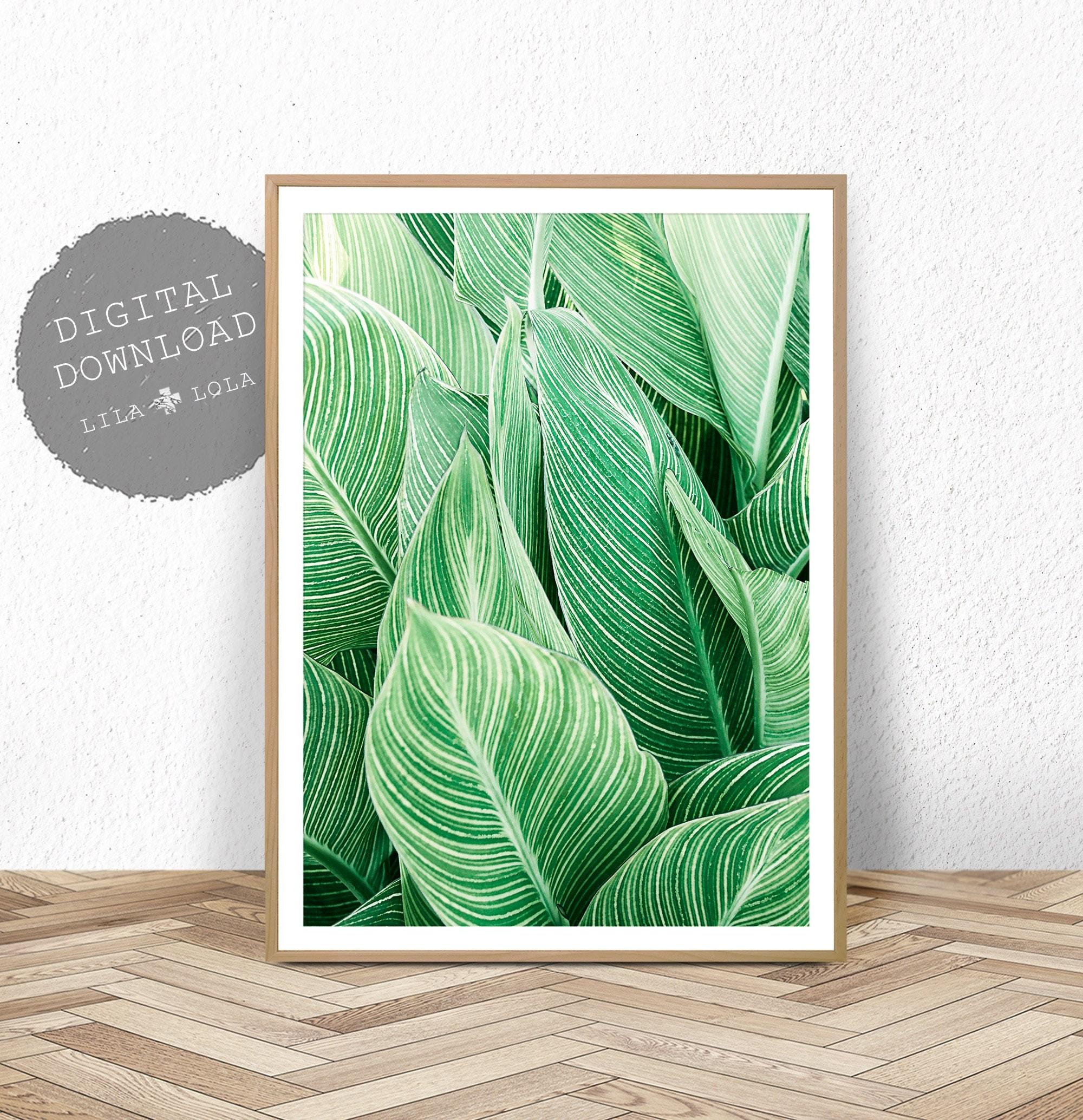 Tropical Plant Wall Art Leaf Print Printable Digital Download Large Poster Tropical Wall Decor Plant Leaf Printable Leaf Wall Decor