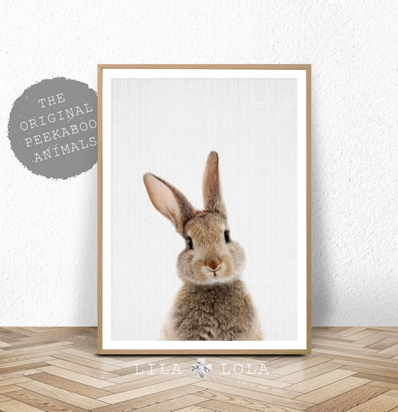 Peekaboo Bunny Rabbit Print - Digital Download