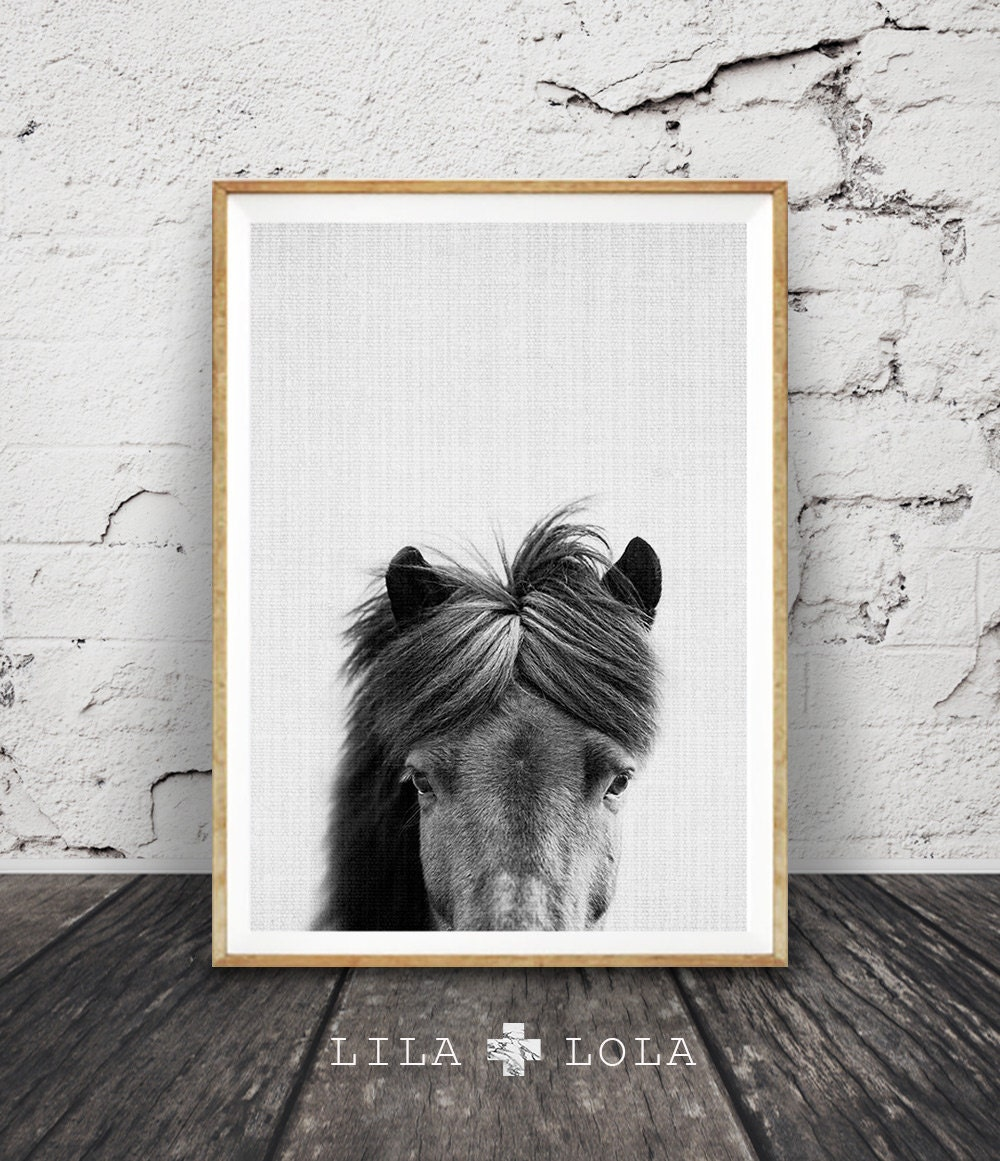 Horse Art Black And White Horse Wall Art Print Photography Modern Minimalist Large Art Poster Printable Download Horse Photo