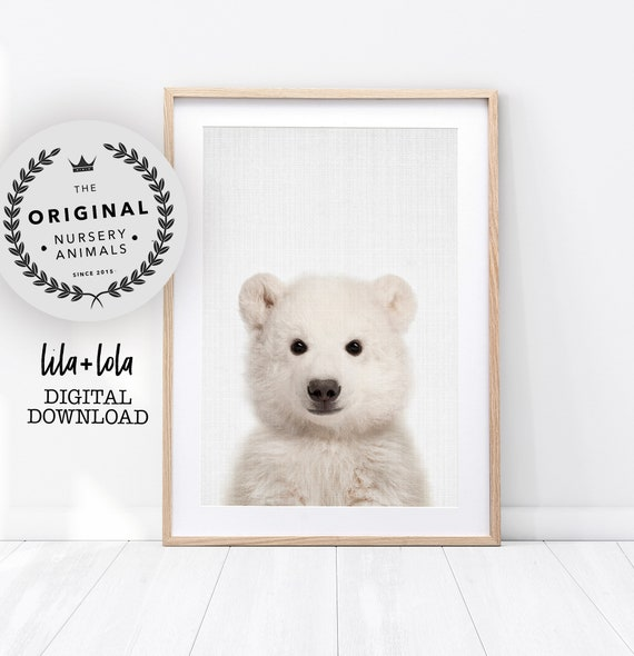 Baby Polar Bear Print - Digital Download