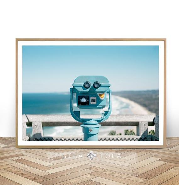Beach Coastal Wall Art Print, Modern Decor, Beach Photography, Digital Download, Large Printable Poster, Coastal Landscape, Byron Bay