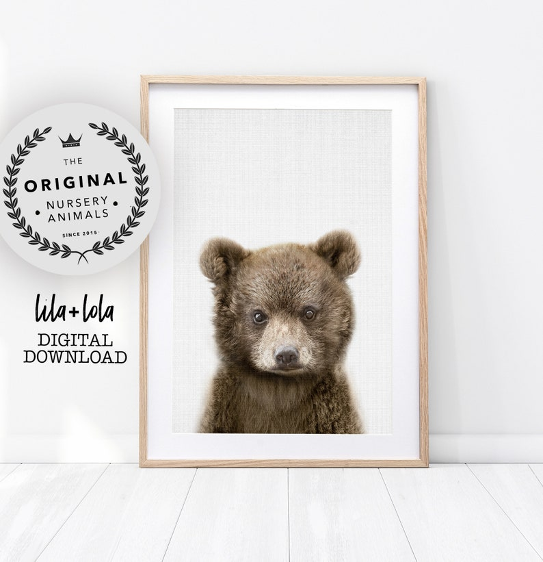 509cc43f68f07 Baby Bear Nursery Print - Printable Wall Art - Woodland Animal Decor,  Babies Boys Room Poster, Kids Wall Art