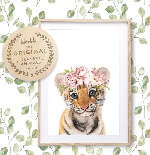 Floral Baby Tiger Print - Digital Download