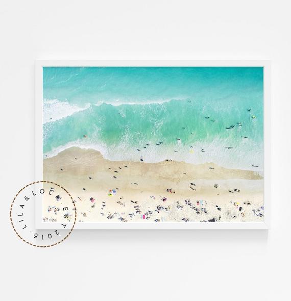 Beach Print ~ Printable Wall Art ~ Digital Download ~ Ariel Ocean Photography ~ Coastal Decor