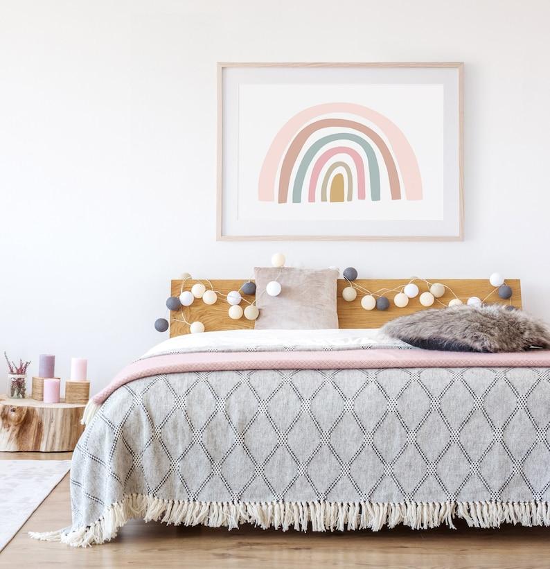 Rainbow Print  PRINTABLE WALL ART   Girls Bedroom Decor image 0