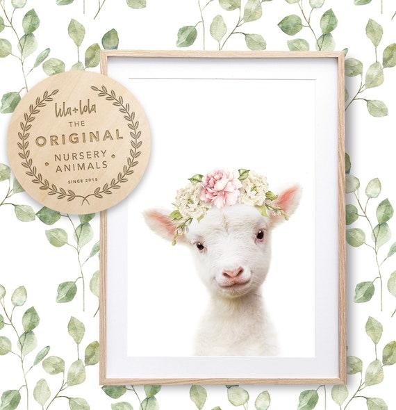 Floral Lamb Print - Digital Download